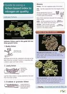 Guide to using a lichen based index to nitrogen air quality (Identification Chart)