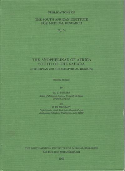 The Anophelinae of Africa South of the Sahara: Ethiopian