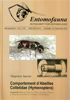 Comportement d'Abeilles Colletidae (Hymenoptera): Les genres Hylaeus, Chilicola, Colletes, Pasiphae, Policana, Cadequala, Caupolicana, Lonchopria et Diphaglossa